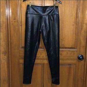 Black Faux Leather Leggings Size Medium